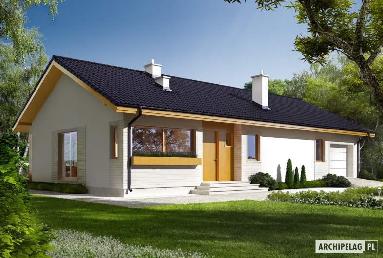 Projekt domu Eryk G1 (30 stopni) - Projekty domów ARCHIPELAG - Eryk G1 (30 stopni) - wizualizacja frontowa