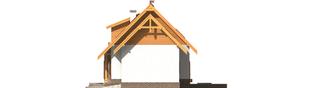 Projekt domu Iskierka G1 - elewacja prawa