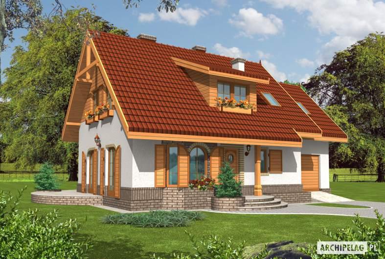 Projekt domu Iskierka G1 - wizualizacja frontowa