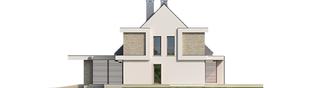 Projekt domu Oliwier z wiatą (dwulokalowy) - elewacja prawa