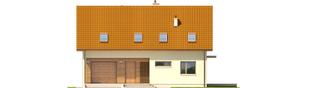 Projekt domu E4 G1 ECONOMIC (wersja B) - elewacja frontowa