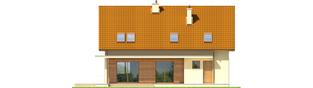 Projekt domu E4 G1 ECONOMIC (wersja B) - elewacja tylna