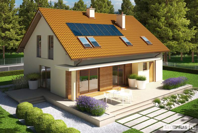 Projekt domu E4 G1 ECONOMIC (wersja B) - widok z góry