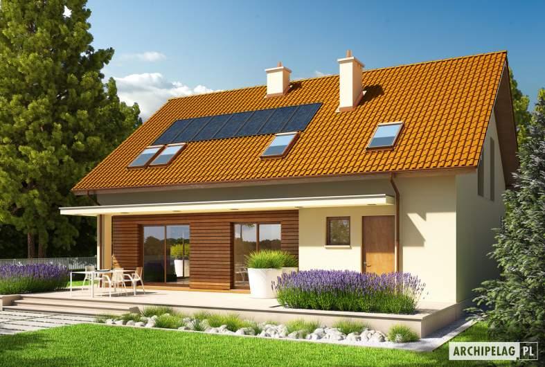 Projekt domu E4 G1 ECONOMIC (wersja B) - wizualizacja ogrodowa