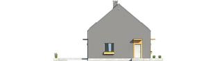 Projekt domu E7 ENERGO PLUS - elewacja lewa
