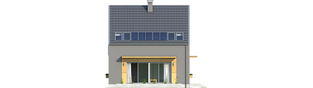 Projekt domu E7 ENERGO PLUS - elewacja tylna