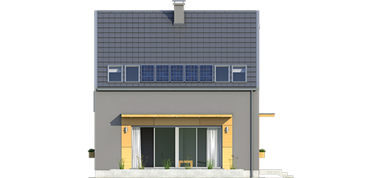 E7 ENERGO PLUS - Projekt domu E7 ENERGO PLUS - elewacja tylna