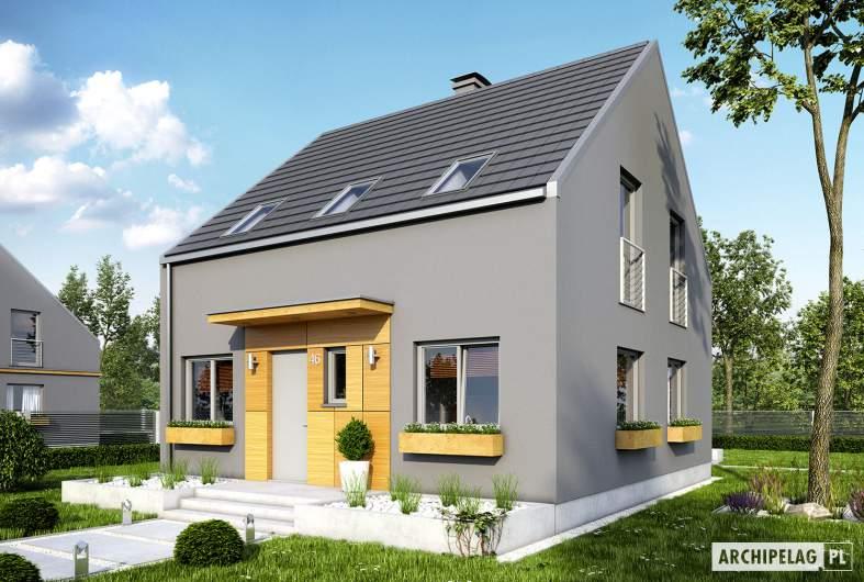 Projekt domu E7 ENERGO PLUS - wizualizacja frontowa