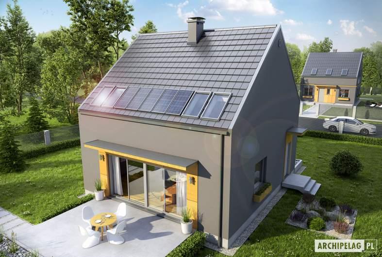 Projekt domu E7 ENERGO PLUS - wizualizacja ogrodowa widok z góry