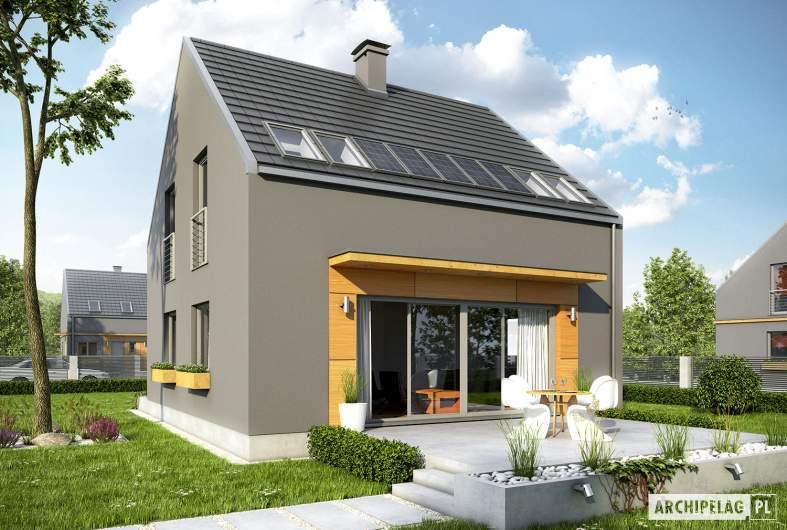 Projekt domu E7 ENERGO PLUS - wizualizacja ogrodowa