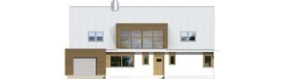 Projekt domu EX 3 G1 - elewacja frontowa