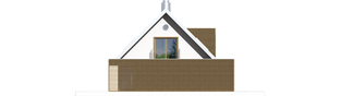 Projekt domu EX 3 G1 - elewacja lewa