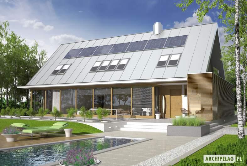 Projekt domu EX 3 G1 - wizualizacja ogrodowa