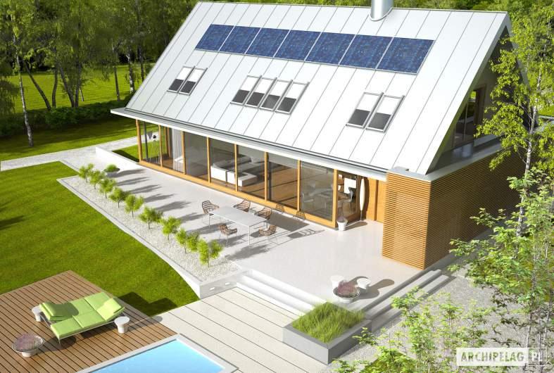 Projekt domu EX 3 G1 - widok z góry