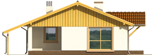 Mirella - Projekt domu Mirella - elewacja lewa