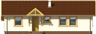 Mirella - Projekt domu Mirella - elewacja frontowa