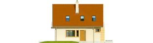 Projekt domu Julek II - elewacja lewa