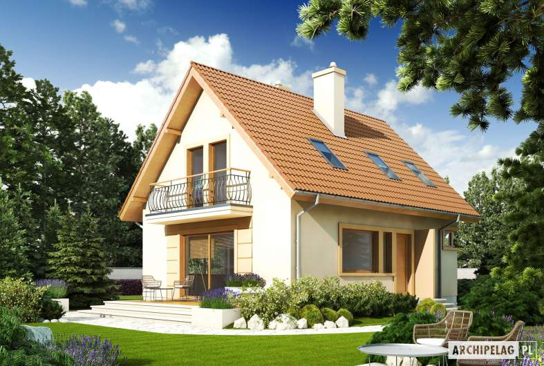 Projekt domu Julek II - Projekty domów ARCHIPELAG - Julek II - wizualizacja ogrodowa
