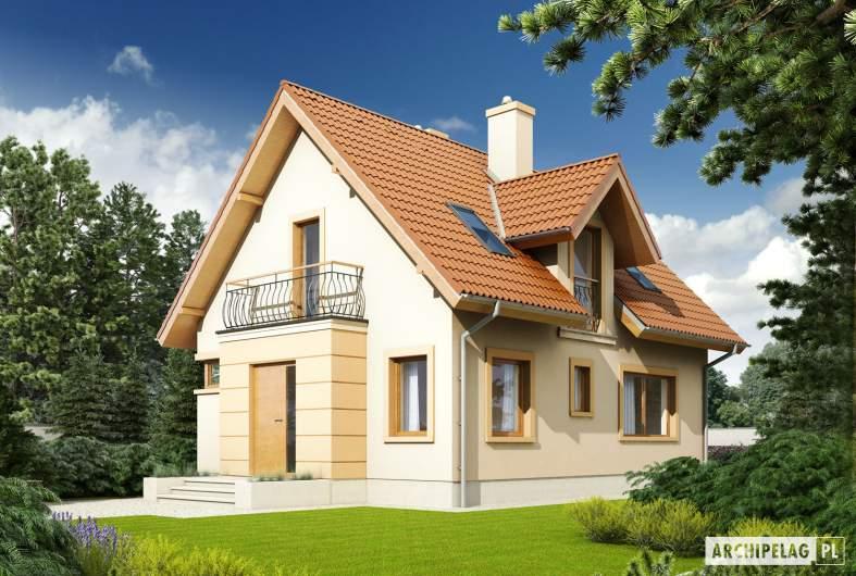Projekt domu Julek II - Projekty domów ARCHIPELAG - Julek II - wizualizacja frontowa