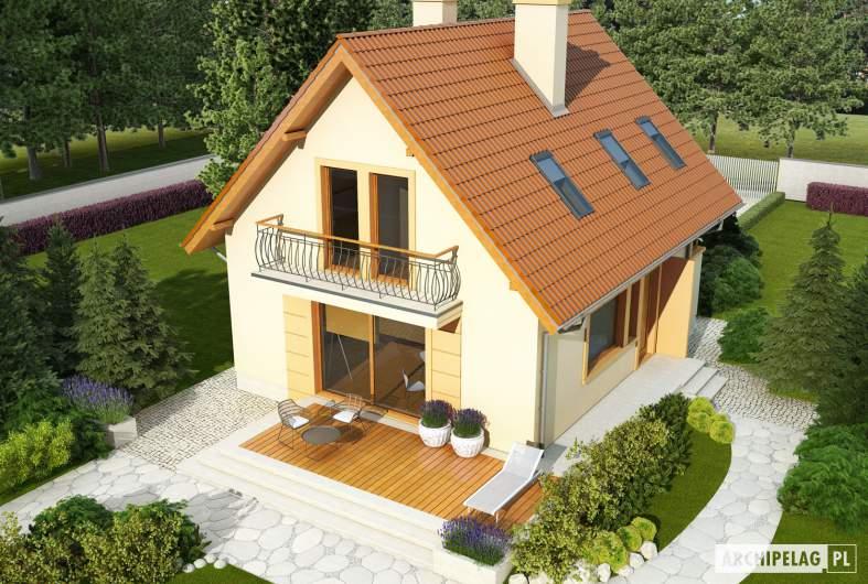 Projekt domu Julek II - Projekty domów ARCHIPELAG - Julek II - widok z góry