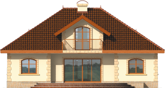 Maura G1 - Projekt domu Maura G1 - elewacja tylna