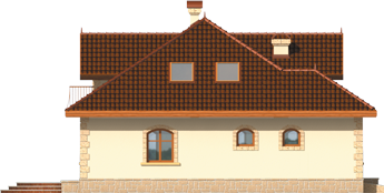 Maura G1 - Projekt domu Maura G1 - elewacja lewa