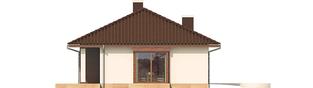 Projekt domu Margo Mocca - elewacja lewa