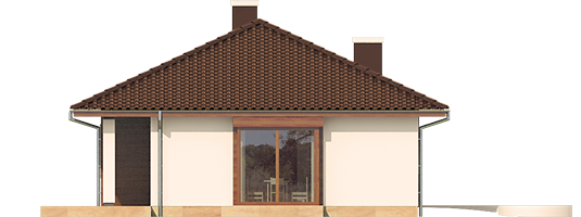 Margo Mocca - Projekt domu Margo MOCCA - elewacja lewa