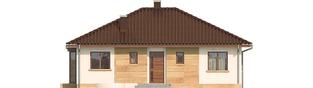 Projekt domu Margo Mocca - elewacja frontowa