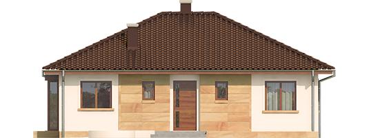 Margo Mocca - Projekt domu Margo MOCCA - elewacja frontowa