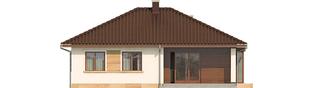 Projekt domu Margo Mocca - elewacja tylna