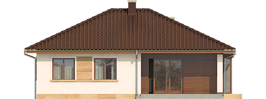 Margo Mocca - Projekt domu Margo MOCCA - elewacja tylna