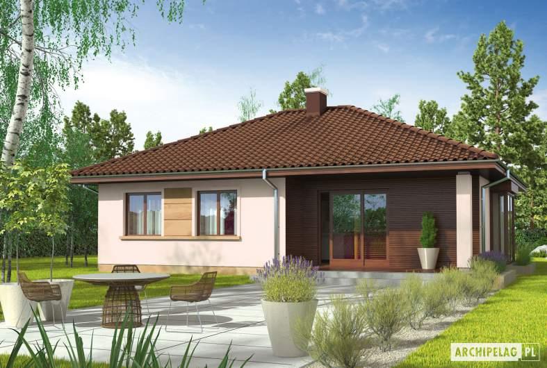 Projekt domu Margo MOCCA - wizualizacja ogrodowa