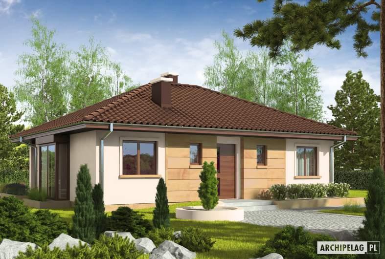 Projekt domu Margo MOCCA - wizualizacja frontowa