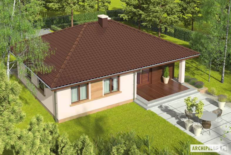 Projekt domu Margo MOCCA - widok z góry