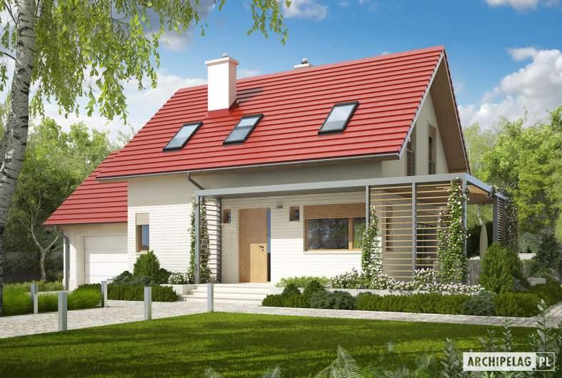 Projekt domu Lea G1 - Projekty domów ARCHIPELAG - Lea G1 - wizualizacja frontowa
