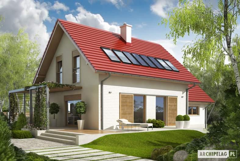 Projekt domu Lea G1 - Projekty domów ARCHIPELAG - Lea G1 - wizualizacja ogrodowa
