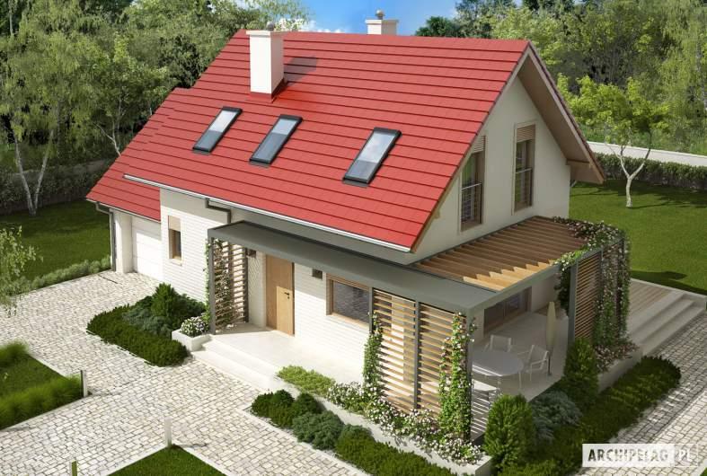Projekt domu Lea G1 - Projekty domów ARCHIPELAG - Lea G1 - widok z góry