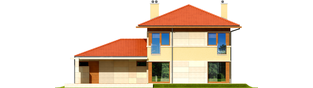 Projekt domu Rodrigo G2 Leca® DOM - elewacja tylna