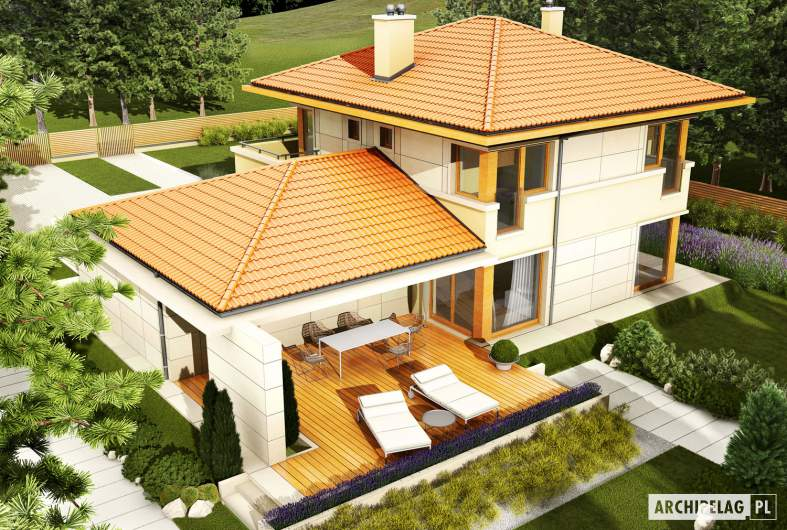 Projekt domu Rodrigo G2 Leca® DOM - widok z góry