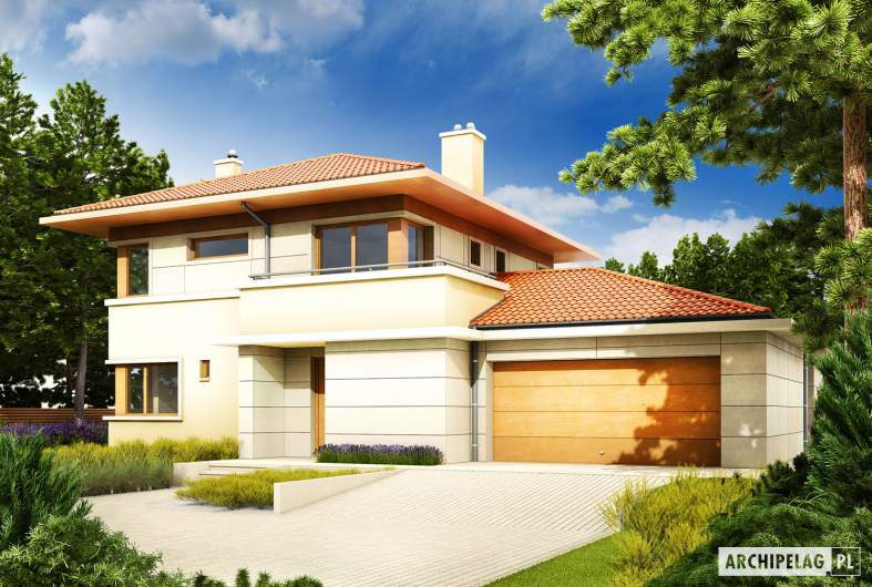 Projekt domu Rodrigo G2 Leca® DOM - wizualizacja frontowa
