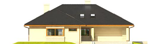 Alanas IV G2 - Projekt domu Alan IV G2 MULTI-COMFORT - elewacja frontowa