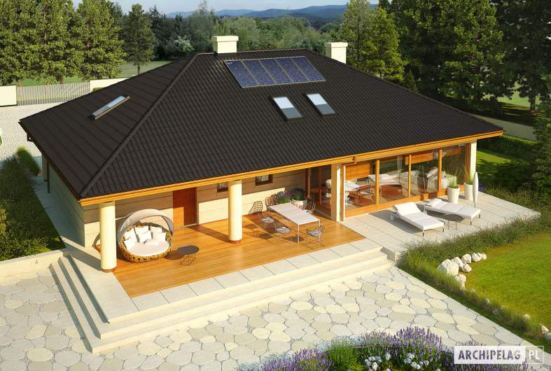 Projekt domu Alan IV G2 MULTI-COMFORT - widok z góry