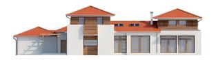 Projekt domu Dionizy (mały) G2 - elewacja tylna