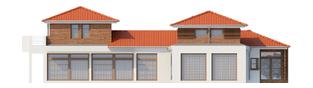 Projekt domu Dionizy (mały) G2 - elewacja lewa