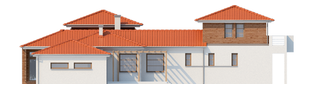 Projekt domu Dionizy (mały) G2 - elewacja prawa
