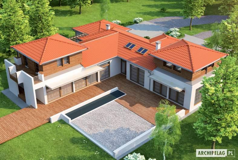 Projekt domu Dionizy (mały) G2 - widok z góry
