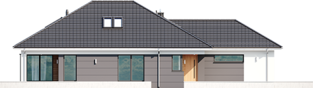 Projekt domu Alison IV G2 - elewacja lewa