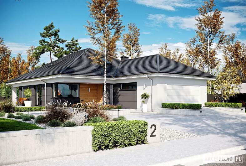 Projekt domu Alison IV G2 - wizualizacja frontowa