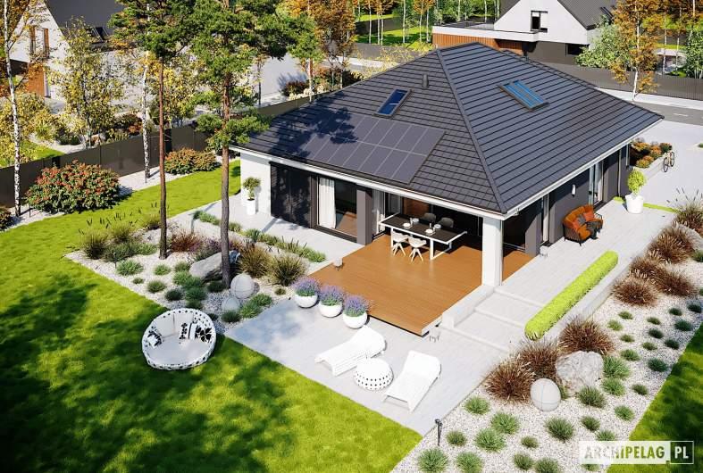 Projekt domu Alison IV G2 - widok z góry